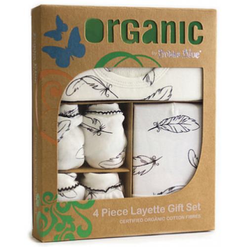 Bubba Blue 4pc Newborn Gift Set Organic Feathers